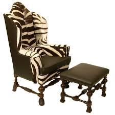 Zebra Chair And Ottoman Zebra Hide William And Wing Chair And Ottoman Ottomans