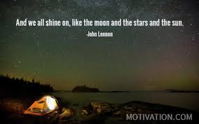 and we all shine on like the moon and the and the sun