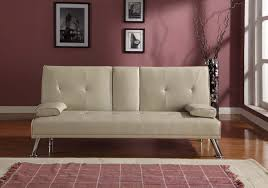 cinema style futon sofabed with drinks table sofa bed faux leather