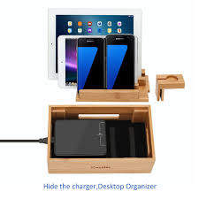 Amazon Com Mini Bamboo Iwatch Stand Icozzier Multi Device