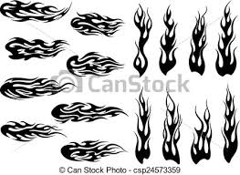 long tribal flames set of long tribal fire flames for vector