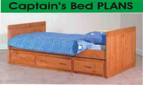 solid wood captains bed perfect twin plans and beds captain