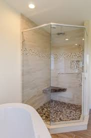 shower ideas large custom tile shower with large tile walls with