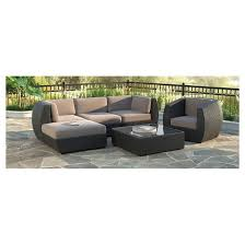 6 Piece Patio Set by Corliving Seattle Curved 6 Piece Sofa With Chaise Lounge And Chair