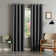 96 Inch Curtains Blackout by Aurora Home Grommet Top Thermal Insulated 96 Inch Blackout Curtain