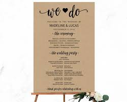 wedding program rustic we do calligraphy wedding program sign template 1000x jpg v 1500960254