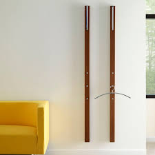 wall mounted coat rack contemporary wooden commercial line