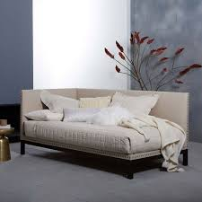 daybed images nailhead trim daybed natural linen weave west elm
