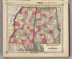 Map Alabama Mississippi And Alabama David Rumsey Historical Map Collection