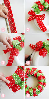 ribbon wreath diy easy christmas ribbon wreath party ideas party printables