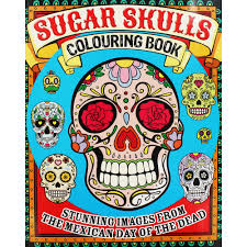 day of the dead sugar skull coloring page free printable never