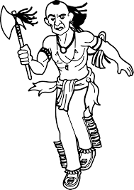 american indian coloring page wecoloringpage
