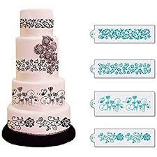 Amazon BakeArt Filigree Scroll Stencil for Cake Decorating