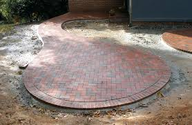 Paver Patio Kits Circular Brick Pit Outdoor Patio Furniture Around The