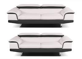canapé 2 et 3 places cuir salon complet lipari en cuir canapé 3 places et canapé 2 5 places
