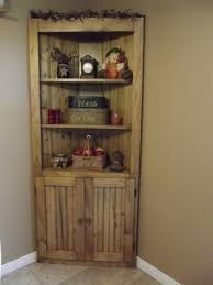 Pine Bookshelf Woodworking Plans by Make A Corner Useful Rustic Country Wood Pine Corner Cupboard Diy