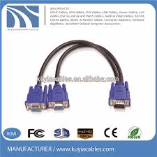 15 pin vga 1 to 2 splitter cable wiring diagram vga cable buy 15