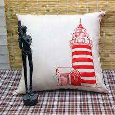 buy interior cushion with embroidery lighthouse on livemaster