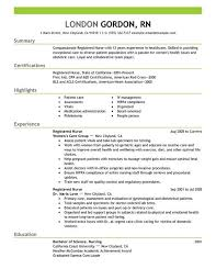 Example Of Rn Resume by Registered Nurse Resume Sample Nursing Pinterest Nursing