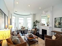 Best Row Homes Images On Pinterest Living Room Ideas Living - Furniture placement living room bay window
