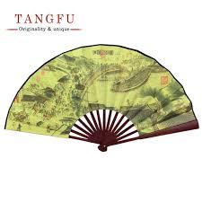 folding fan men vintage silk bamboo folding fan classic antique