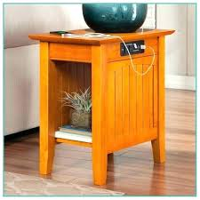 chairside table with charging station charging station end table accent charging end table cappuccino