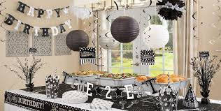 decorating in white black white birthday party supplies party city