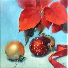 Paintings Of Christmas Ornaments Twiggs Original Oil Paintings
