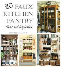 ideas for the kitchen 20 faux kitchen pantry ideas stow tellu