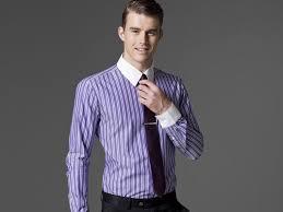playful purple striped dress shirt