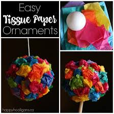 easy tissue paper ornaments for happy hooligans