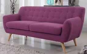 Purple Sofa Bed Nico Mid Century Modern Fabric Sofa Modern Fabric Sofa
