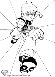 unique comics animation ben 10 coloring pages