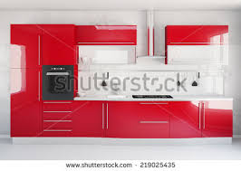 Red Kitchen Pics - interior new white kitchen kitchenware clean stock illustration