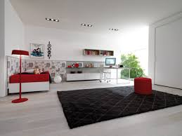 Walls And Trends Other Design Modern Living Room With White Walls And Red Furniture
