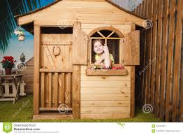 cute little inside wooden house stock photo image 54541202