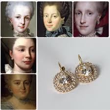 antoinette earrings 18th century earrings georgian paste earrings historical