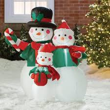 Trimming Traditions Christmas Outdoor Decorations Snowman Airblown 6 Ft by Outdoor Christmas Decorations You U0027ll Love Wayfair