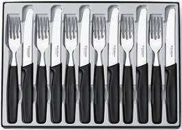 victorinox kitchen knives australia victorinox 12 steak knife and fork set black auction