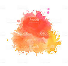 splash of colors on white background splattered watercolors with
