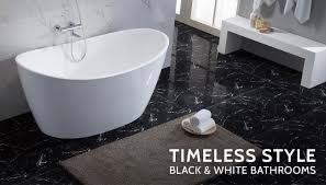 black grey and white bathroom ideas the daily tubber timeless style black u0026 white bathroom designs