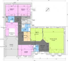 plan maison plain pied en l 4 chambres formidable of plan maison plain pied 4 chambres chambre