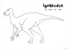 iguanodon dinosaur coloring page free coloring pages online