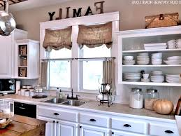 glass door wall mounted cabinets farmhouse country kitchens