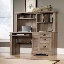 Walmart Desk With Hutch Sauder Harbor View Computer Desk With Hutch Salt Oak Walmart