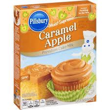 pillsbury moist supreme caramel apple premium cake mix 15 25 oz