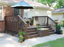 Ideas For Deck Handrail Designs Traditional And Comfortable Decks For Everyday Use Concrete