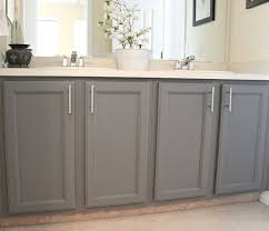 jack and jill bathroom update painted cabinets blue sage designs