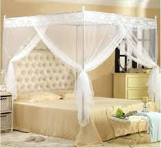 Lace Bed Canopy Mosquito Net Bedroom Mosquito Net White Color Lace Bed Canopy