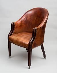 Tub Armchair Antique Edwardian Tub Chair Antique Mahogany Leather Tub Chair